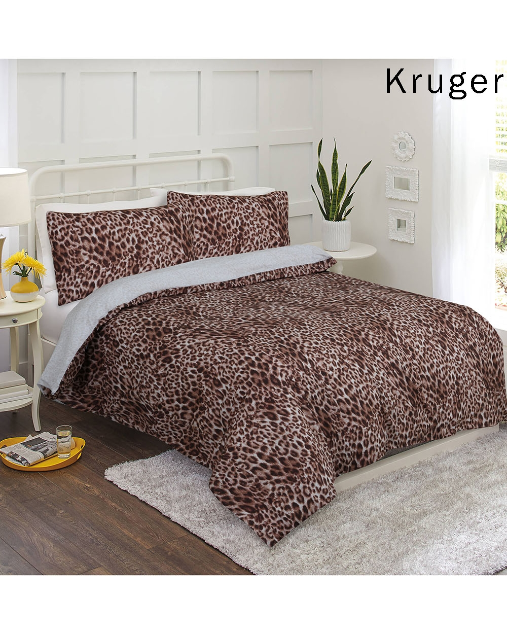 Kruger-Reversible Printed Quilt Cover