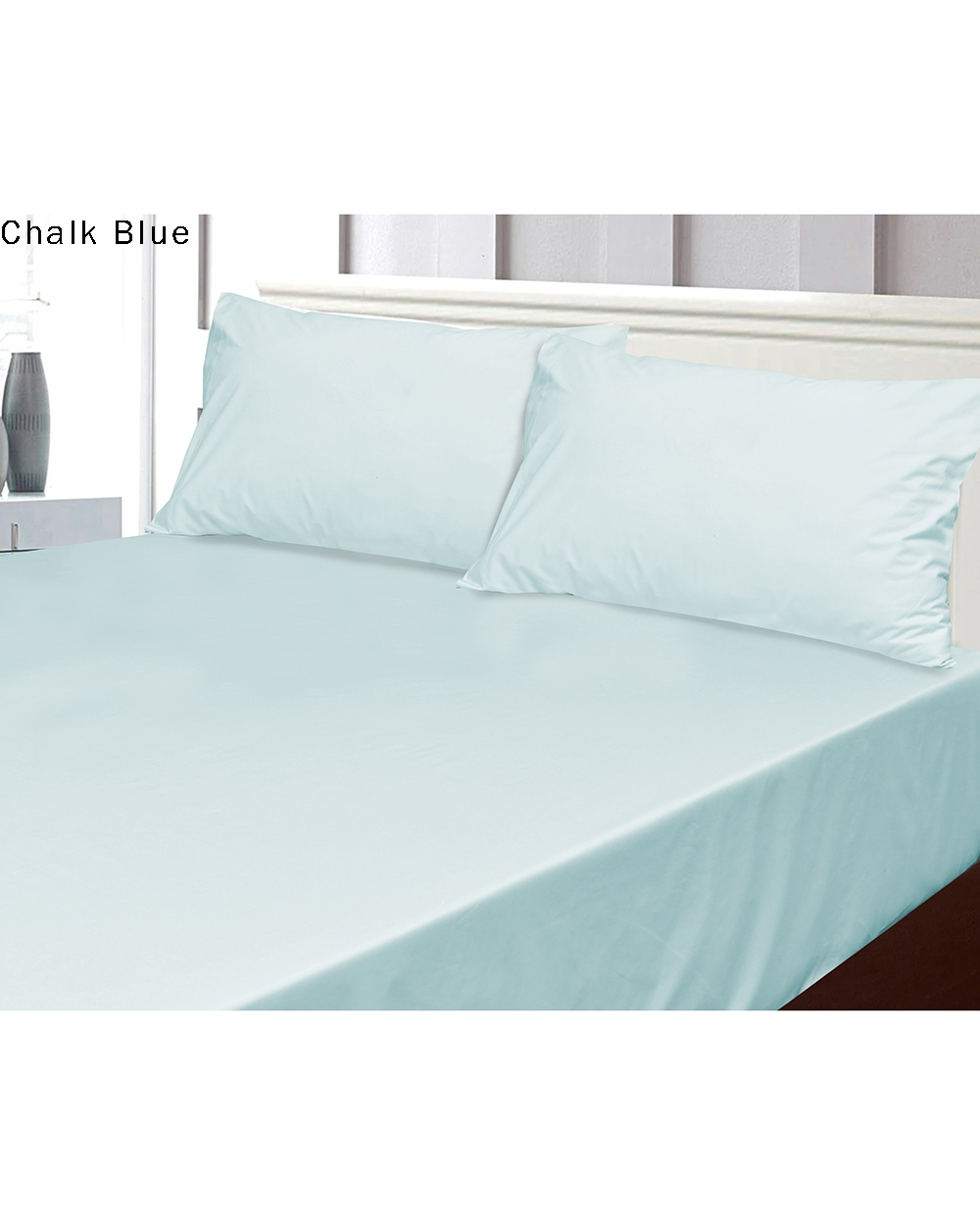 Chalk Blue fitted sheet